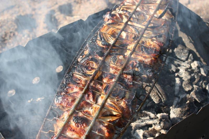 Вкусное подготовленное shish kebab стоковая фотография rf