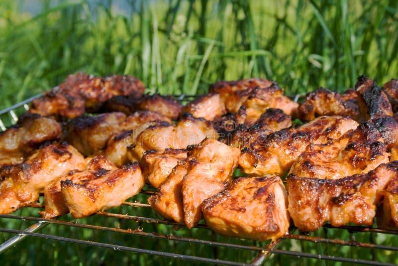 вкусное решетки подготовленное мясом стоковое изображение