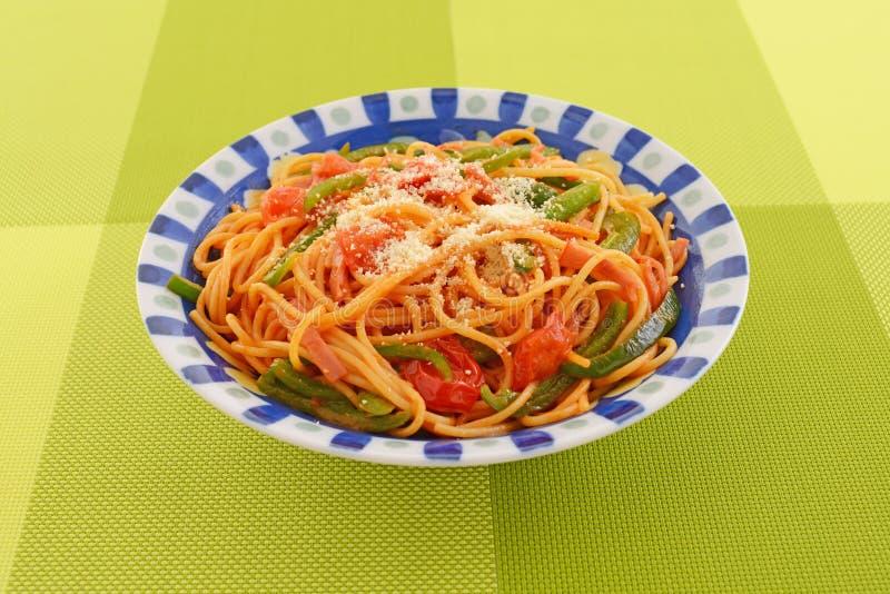 вкусное спагетти стоковые изображения rf
