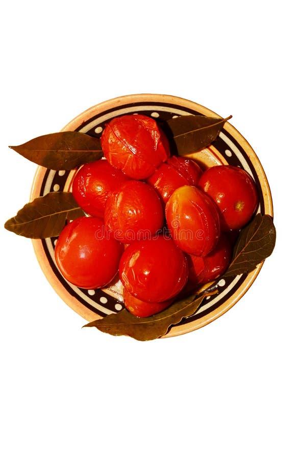 Вкусные соленые томаты стоковые фотографии rf