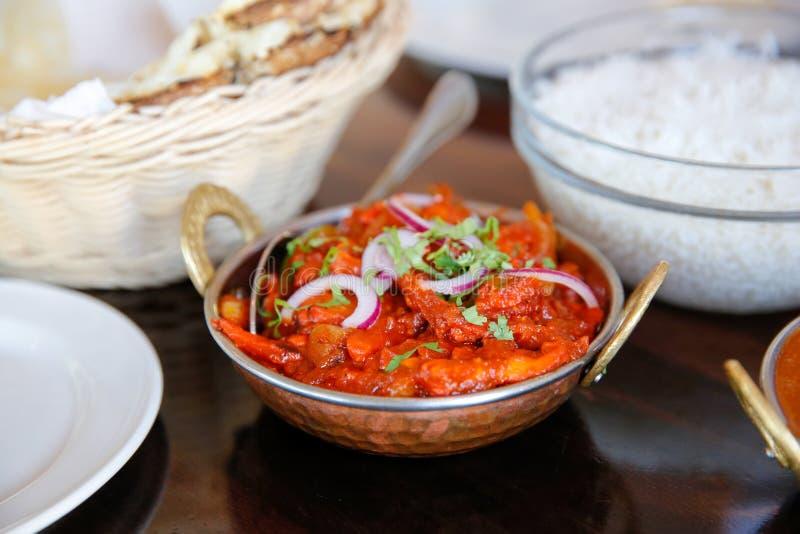 Вкусный испаренный рис с томатным соусом служил в кафе, Timaru, Новой Зеландии стоковые изображения