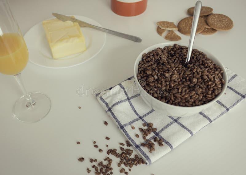 Вкусный и полный завтрак стоковое фото rf