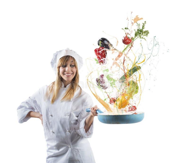 Вкусный рецепт шеф-повара стоковые фотографии rf