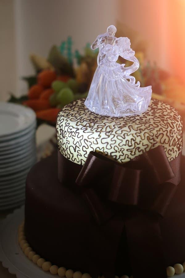 Вкусный свадебный пирог стоковое фото rf