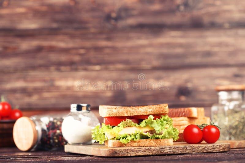 Вкусный сэндвич стоковое фото