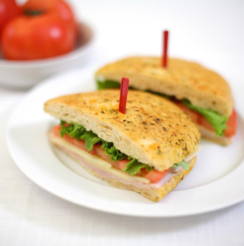 вкусный сэндвич с ветчиной стоковое изображение rf