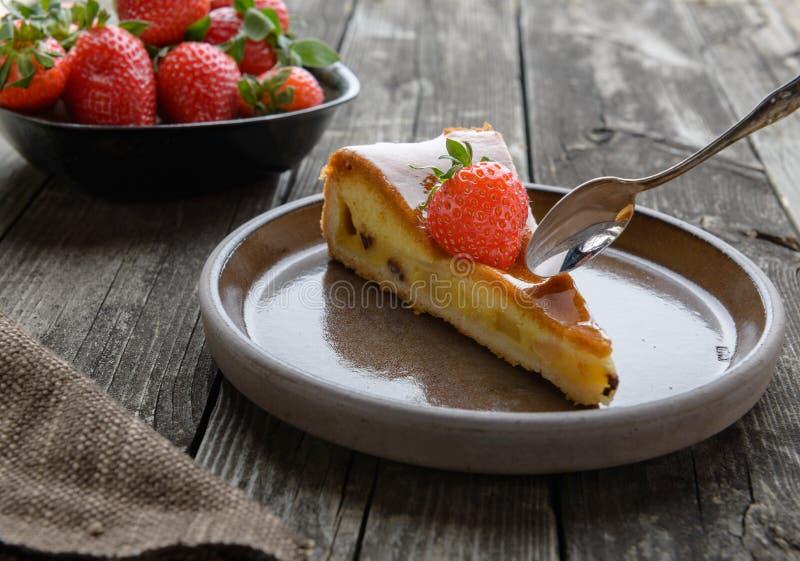 Вкусный торт плодоовощ стоковое изображение rf