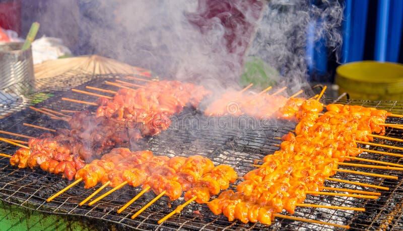 Вкусный satay цыпленок стоковое изображение rf