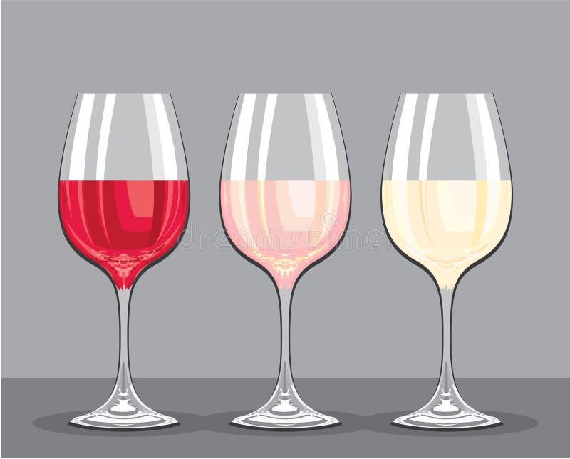 Вкусы вина иллюстрация штока
