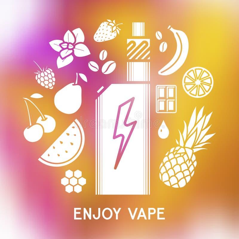 Вкус электронной сигареты бесплатная иллюстрация