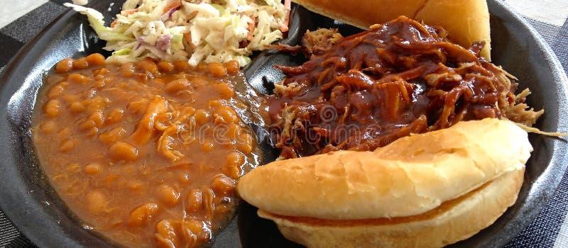 Вкус южной южной плиты BBQ стиля стоковые изображения