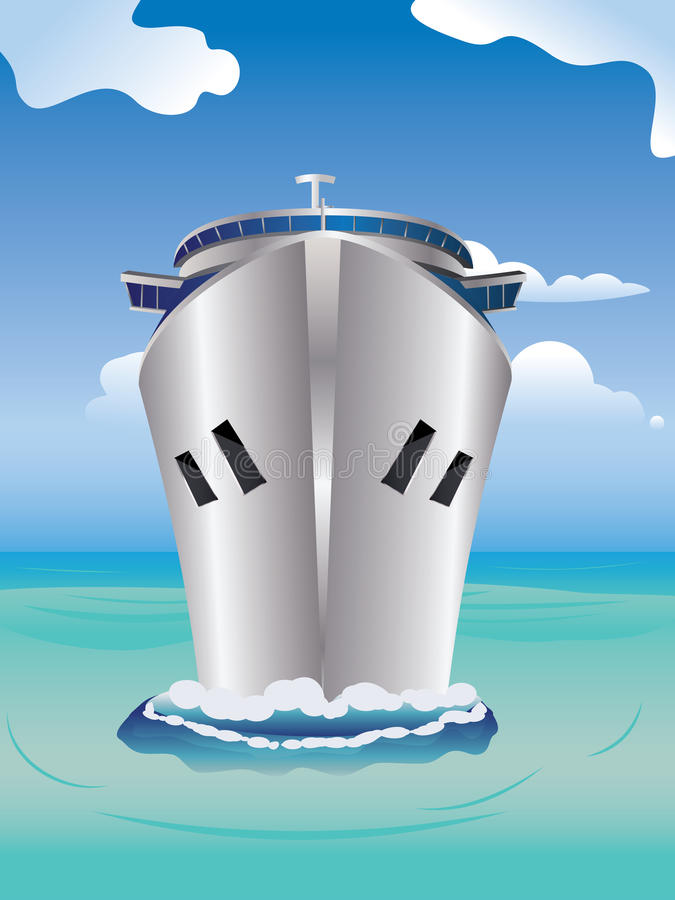 Вкладыш круиза в море иллюстрация штока