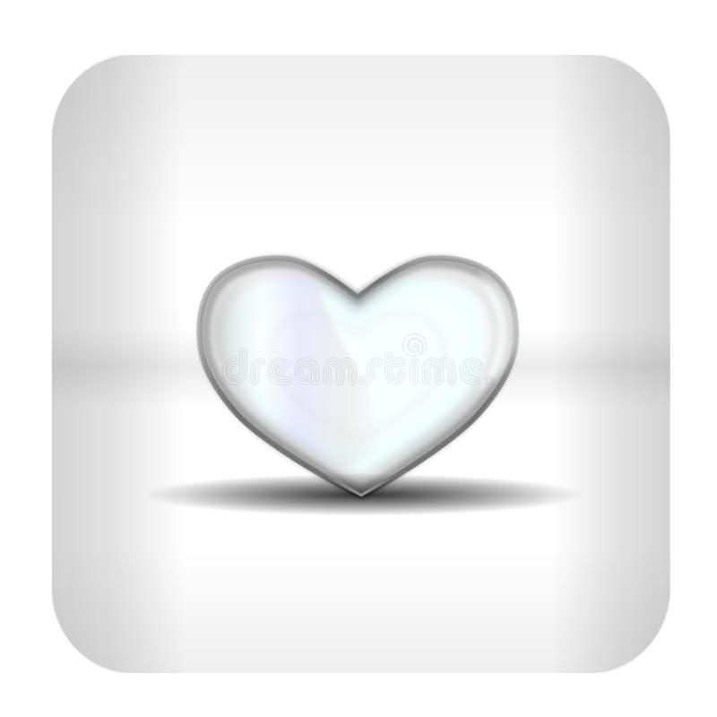 включенная икона сердца архива 8 eps стоковые фотографии rf