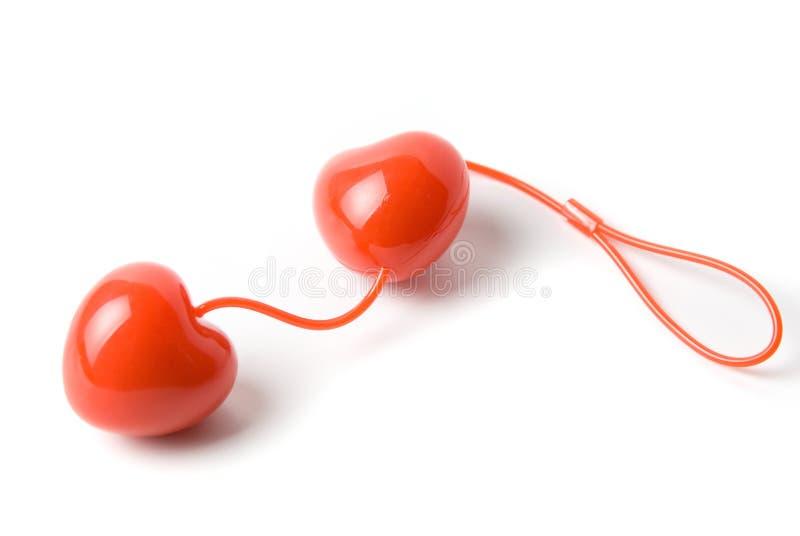 влагалищное сердца шариков красное стоковое фото rf