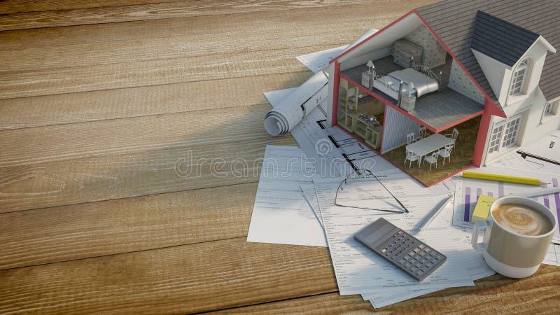 Владение дома иллюстрация вектора