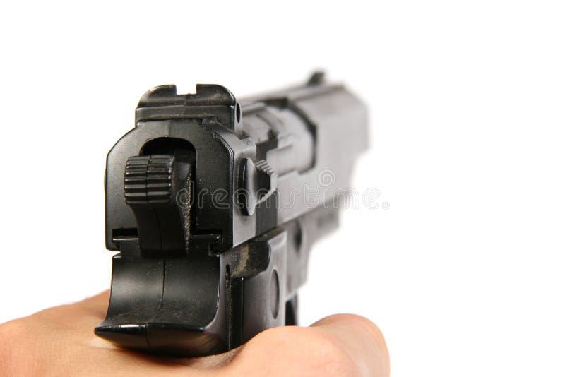 владение руки пушки стоковая фотография rf