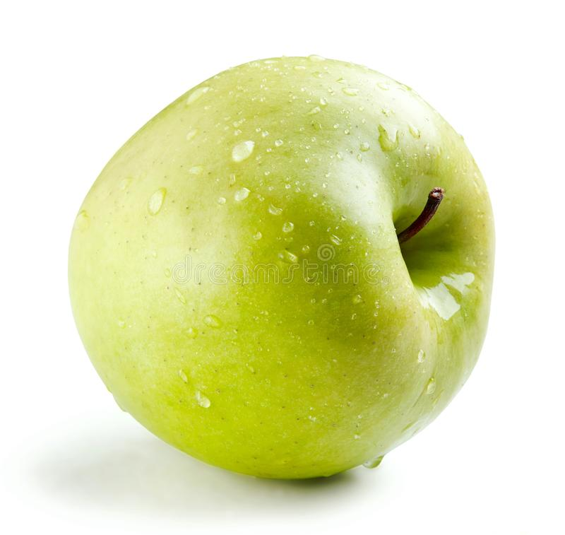 Влажное зеленое все яблоко стоковое изображение