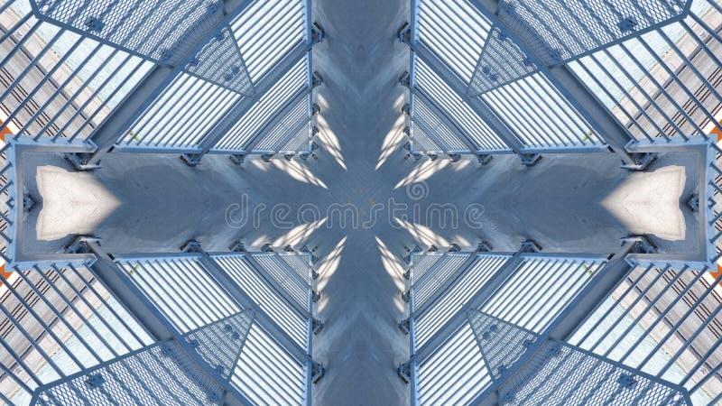 Влияние зеркала на мосте иллюстрация штока