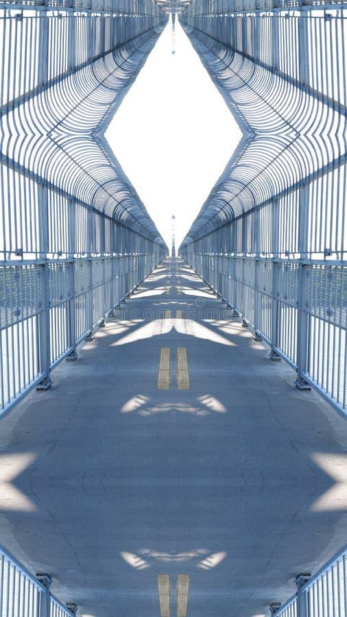 Влияние зеркала на мосте бесплатная иллюстрация