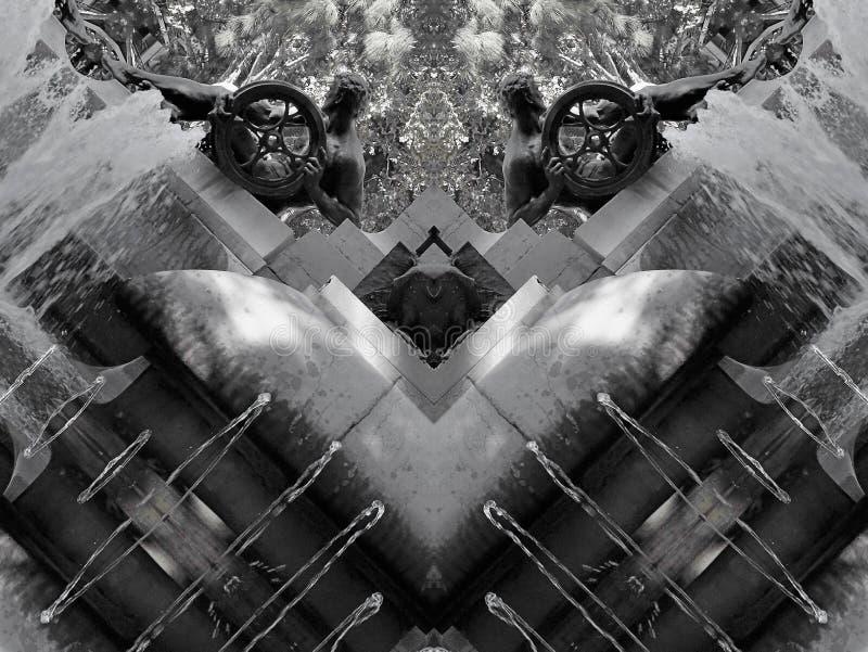 Влияние зеркала фонтана бесплатная иллюстрация