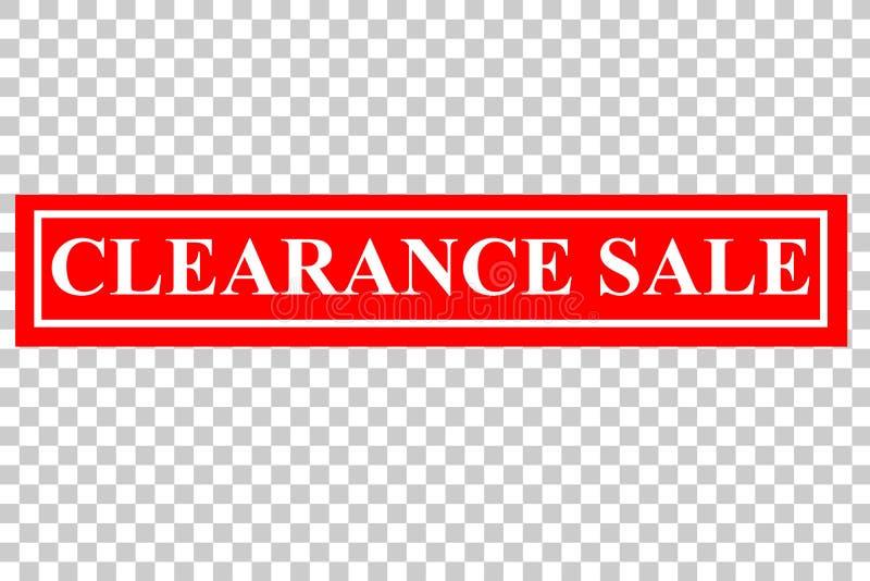 Влияние избитой фразы: Распродажа, на прозрачной предпосылке влияния бесплатная иллюстрация