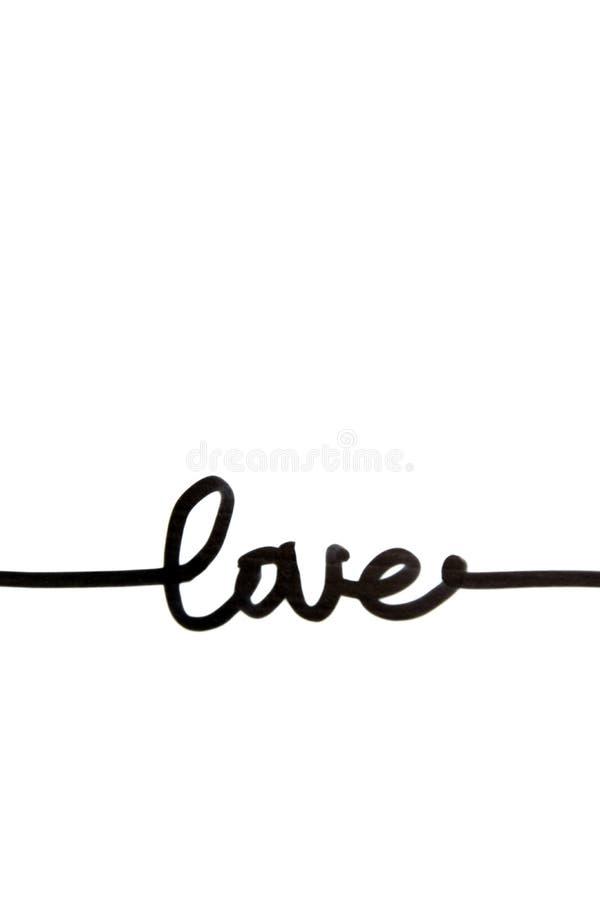 ` Влюбленности ` текста на белой предпосылке иллюстрация штока
