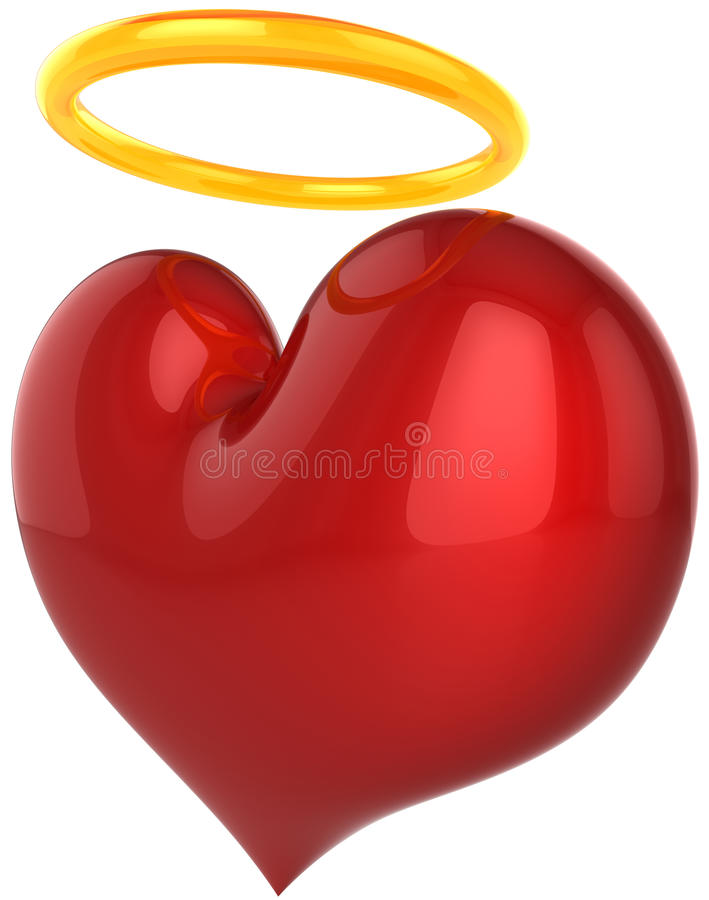 влюбленность абстрактного сердца ангела святейшая иллюстрация вектора