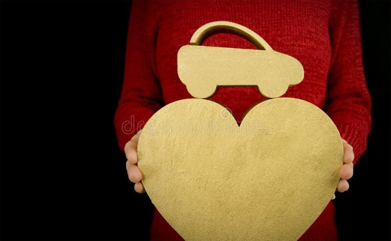 влюбленность автомобиля моя стоковые фотографии rf