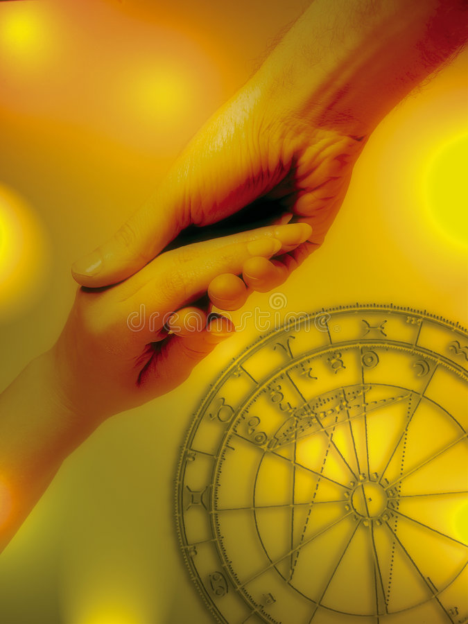 влюбленность астрологии стоковая фотография rf