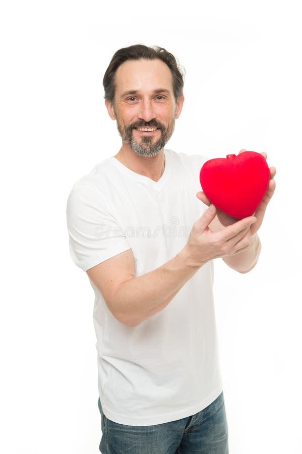 Влюбленность большое чувство красный цвет поднял здоровье внимательности рукояток изолировало запаздывания Пересадка сердца Торже стоковое фото