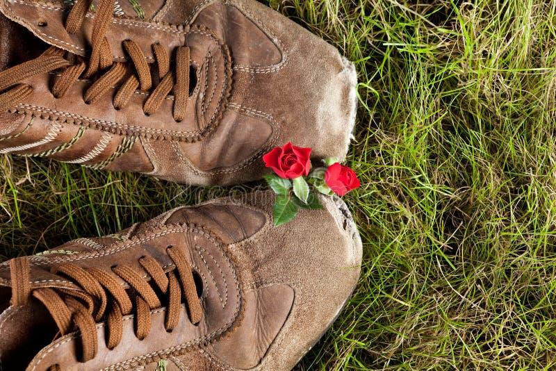 влюбленность ботинок стоковая фотография