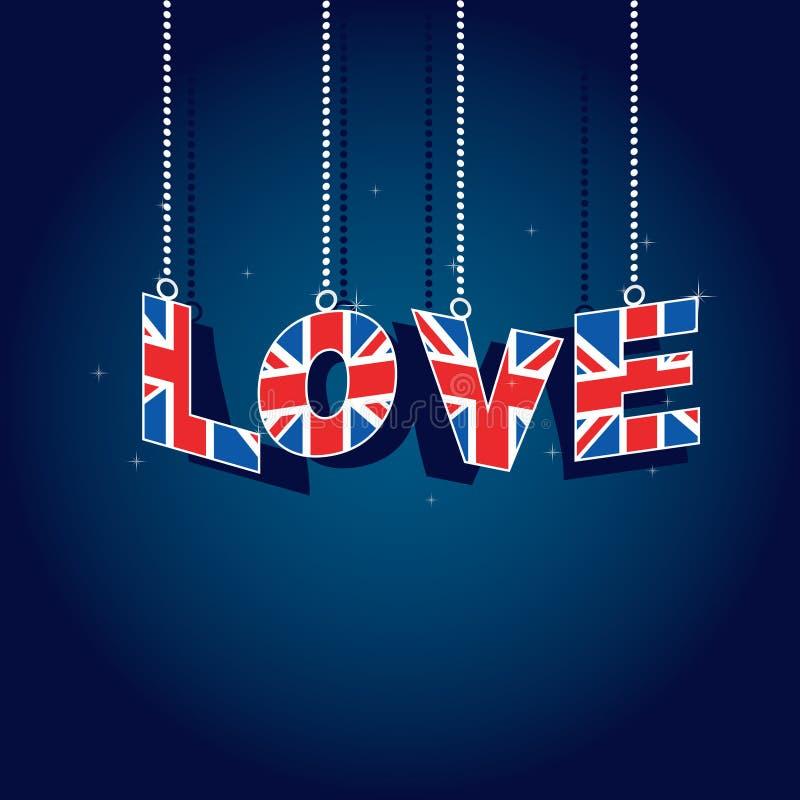 влюбленность Британии большая иллюстрация вектора