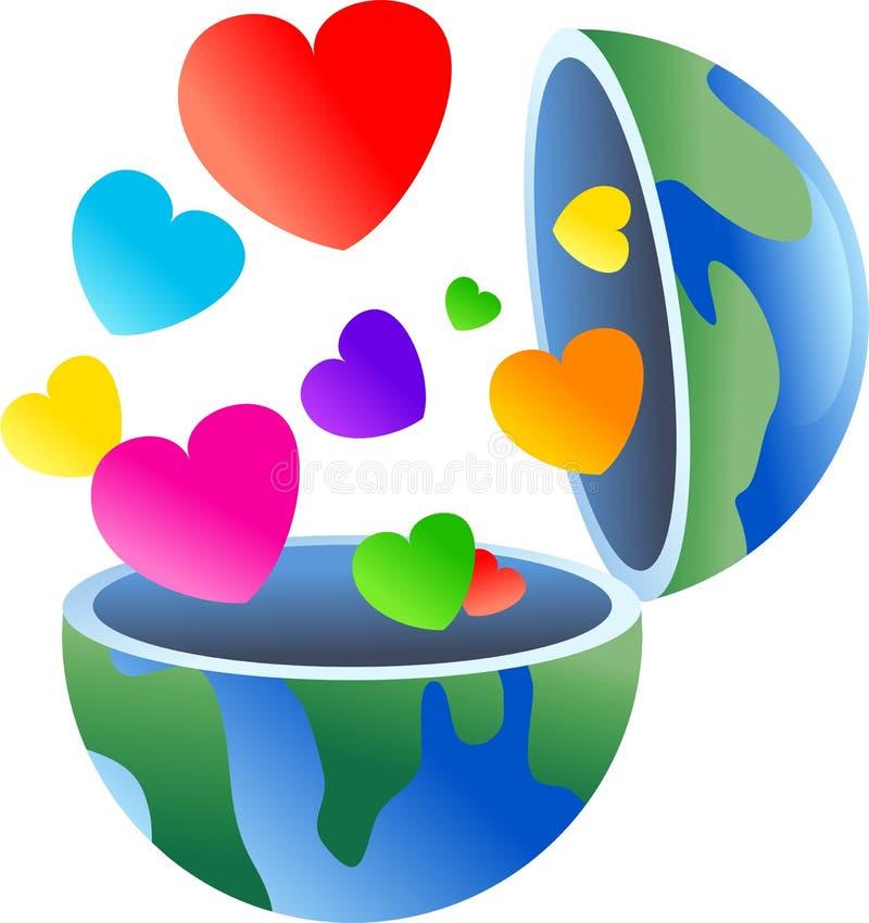 влюбленность глобуса бесплатная иллюстрация