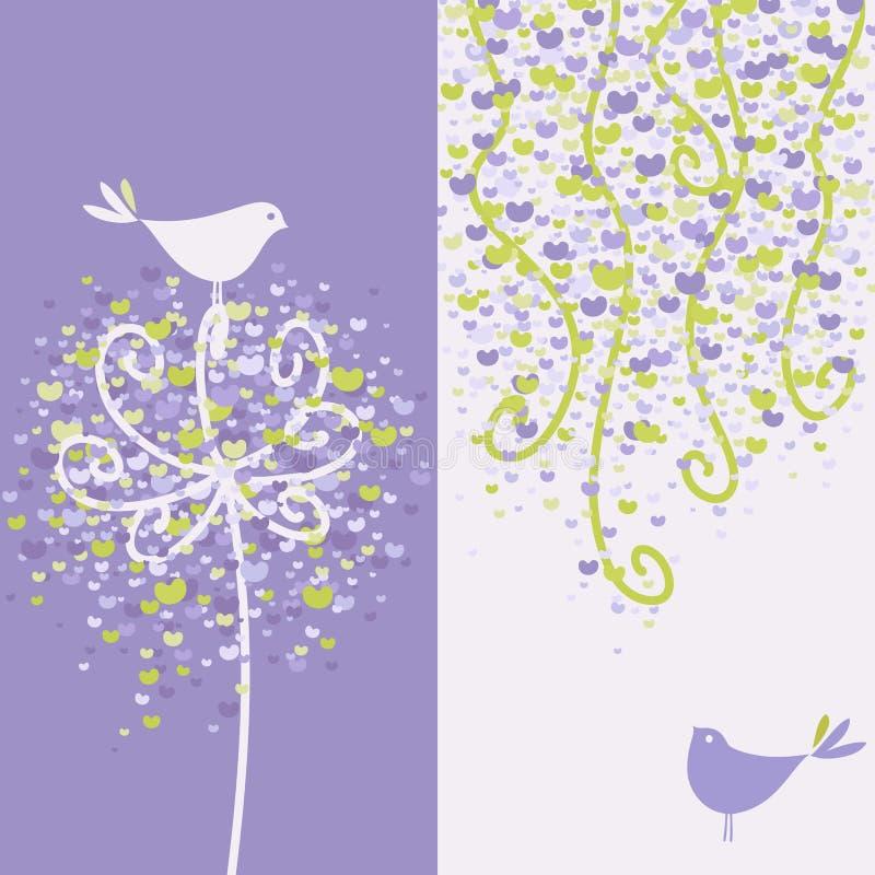 влюбленность довольно 2 ветвей птиц цветистая иллюстрация штока