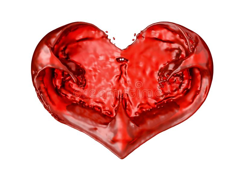 Влюбленность: жидкая изолированная форма сердца иллюстрация штока
