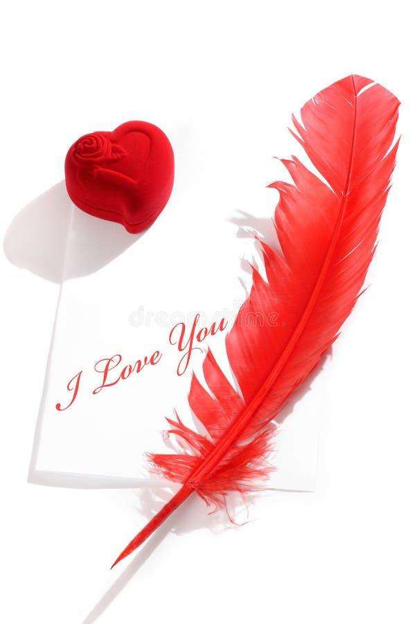 влюбленность жизни письма все еще стоковое изображение rf