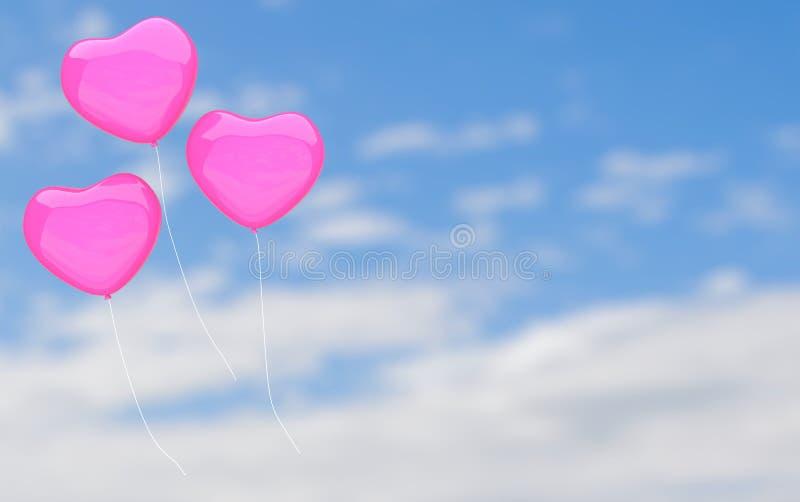 Влюбленность и любовник сердца для перевода валентинки 3D бесплатная иллюстрация