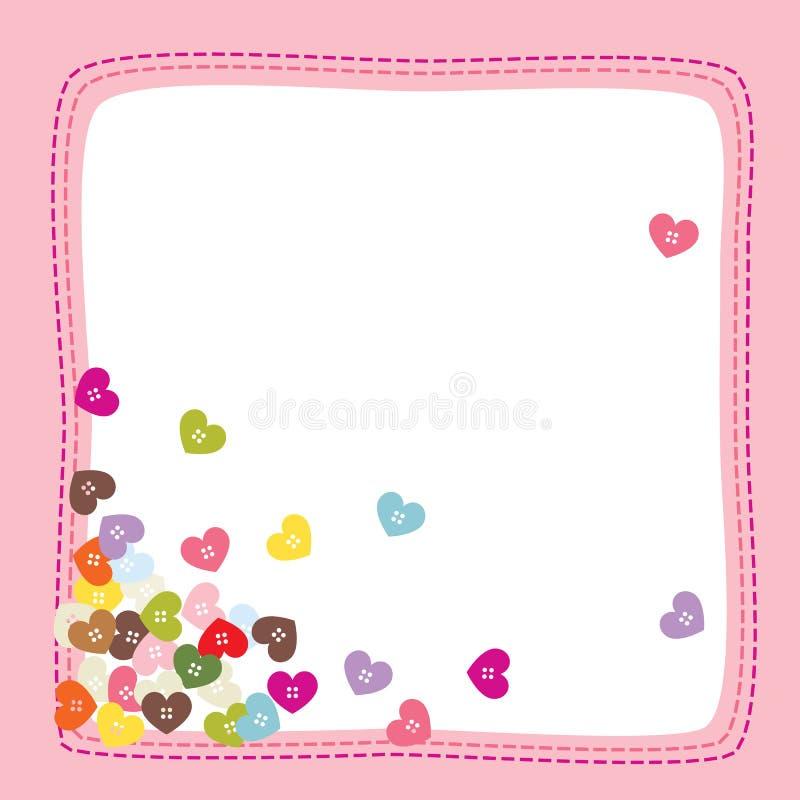 влюбленность кнопки i иллюстрация штока