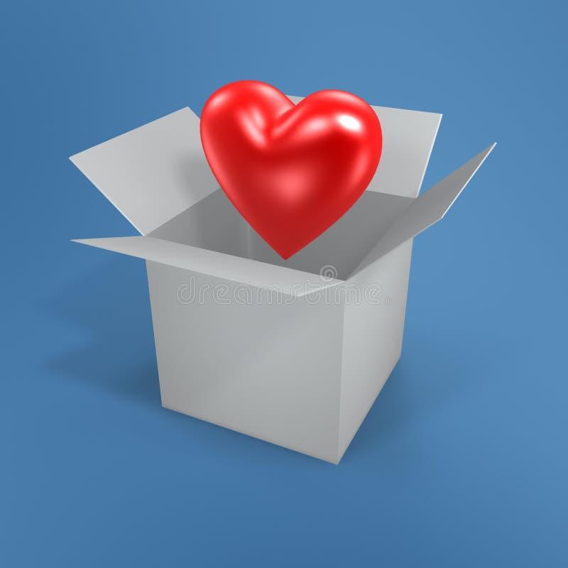 влюбленность коробки бесплатная иллюстрация