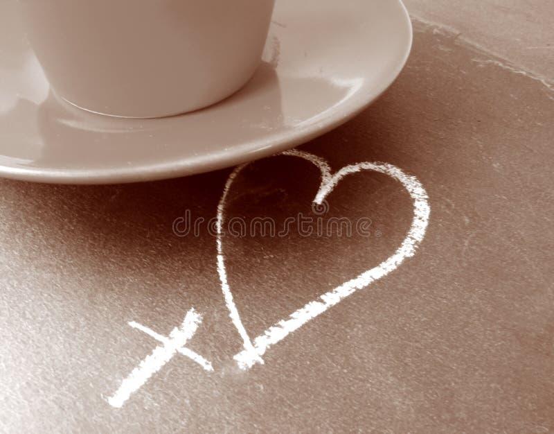 влюбленность кофе стоковое фото