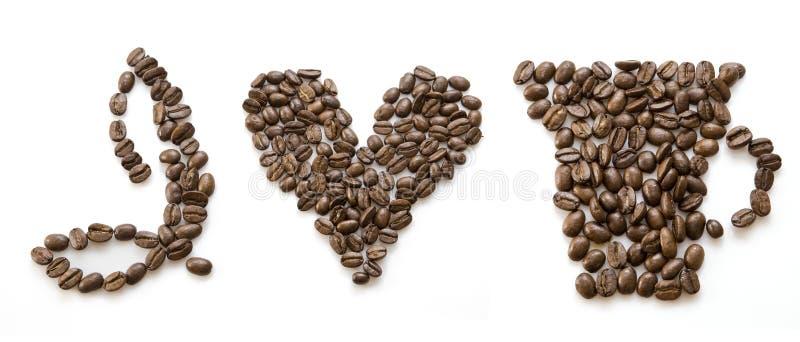 влюбленность кофе i стоковые изображения rf