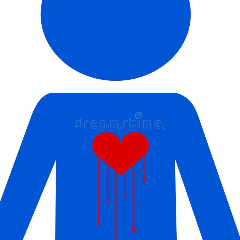 влюбленность кровотечения иллюстрация вектора