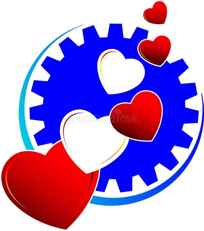 влюбленность логоса сердец иллюстрация штока
