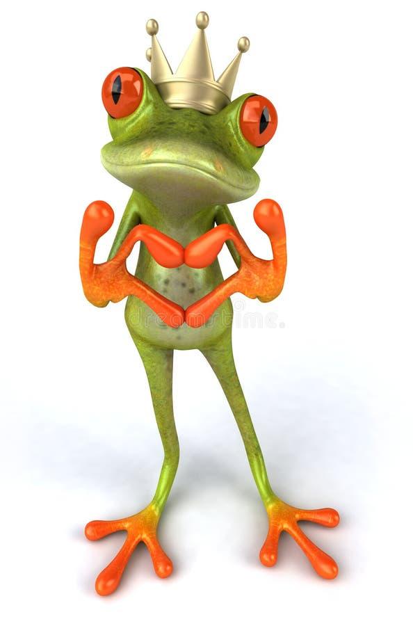 влюбленность лягушки бесплатная иллюстрация