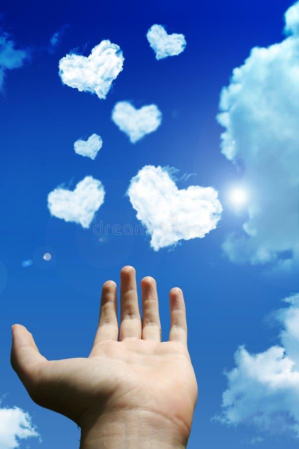 влюбленность облака стоковое изображение rf