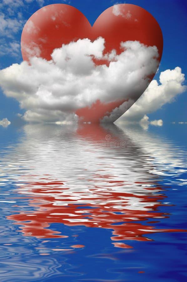 влюбленность облаков бесплатная иллюстрация