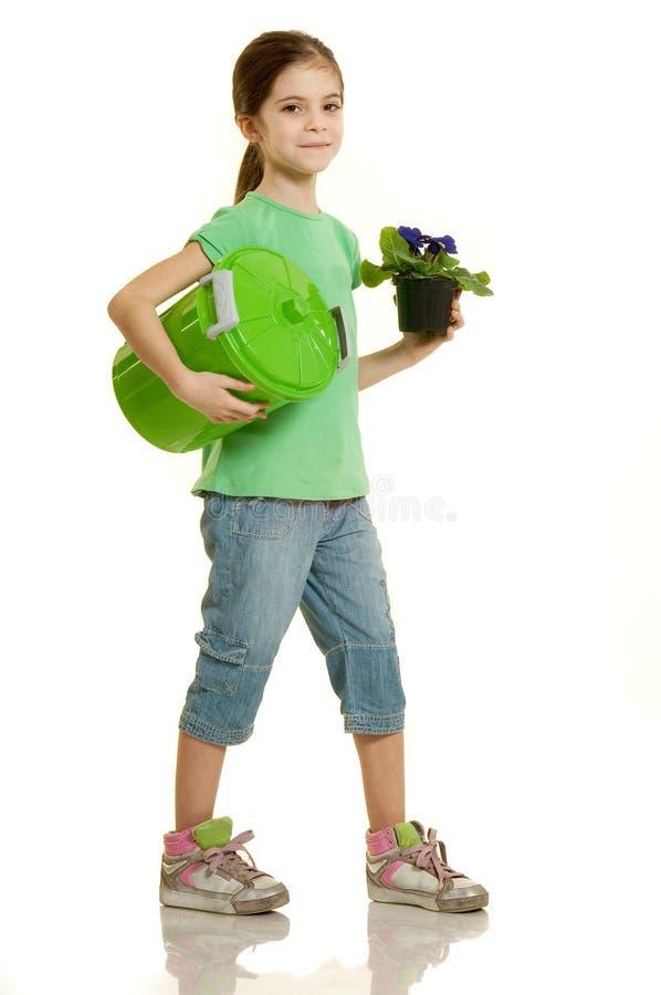 влюбленность окружающей среды ребенка стоковое фото