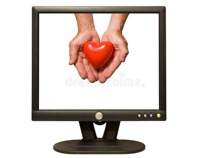 влюбленность он-лайн стоковое изображение rf