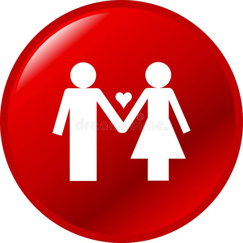 влюбленность пар кнопки иллюстрация штока