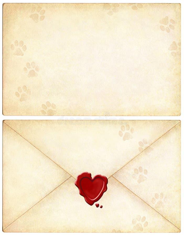 влюбленность письма кота ваша стоковые фотографии rf